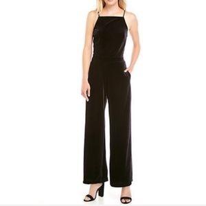 Velvet Black Halter Jumpsuit Size 4,6,8
